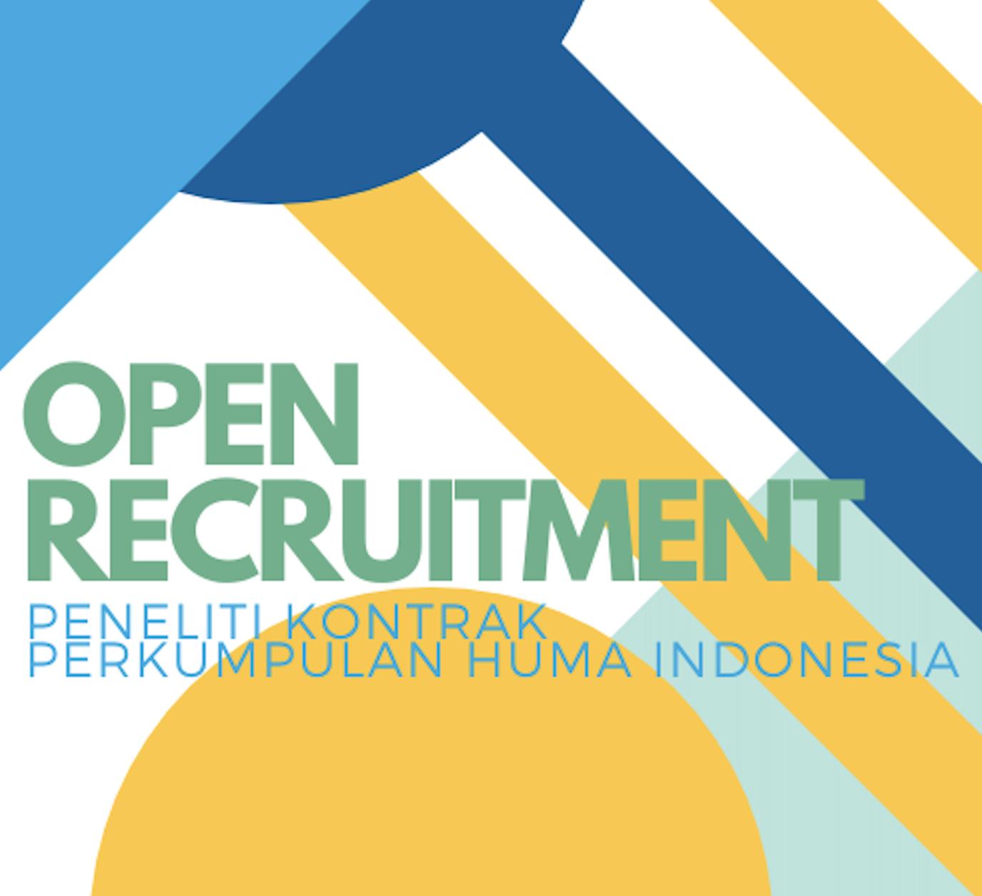 OPEN RECRUITMENT - Peneliti Kontrak Perkumpulan HuMa Indonesia